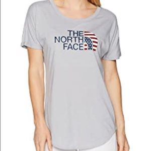 NWT The North Face Patriotic Flag Small Gray
